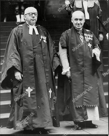 The Very Rev Doctor Sir Charles Laing Warr With Rev Prof James Pitt-watson The Moderator Of The Church Of Scotland General Assembly (left) At St Giles Cathedral Edinburgh Charles Laing Warr Gcvo Was A Church Of Scotland Minister And Author In The 20th Century. Warr Was Born Into An Ecclesiastical Family On 24 July 1892 And Educated At Glasgow Academy And The University Of Edinburgh. He Was Commissioned Into The 9th Argyll And Sutherland Highlanders In 1914 And Served During World War I. When Peace Returned He Was An Assistant Minister At Glasgow Cathedral. Later He Was The Minister Of St Pauloos Greenock And Then St Giles' Cathedral. He Was Dean Of The Thistle And The Dean Of The Chapel Royal In Scotland From 1926 To 1969. A Sub-prelate Of The Order Of St John Of Jerusalem And An Honorary Chaplain To The King (and Later An Honorary Chaplain To The Queen). He Died On 14 June 1969 And Was Interred At Warriston Cemetery But Also Has A Panel On The Family Memorial In Rosneath Graveyard.