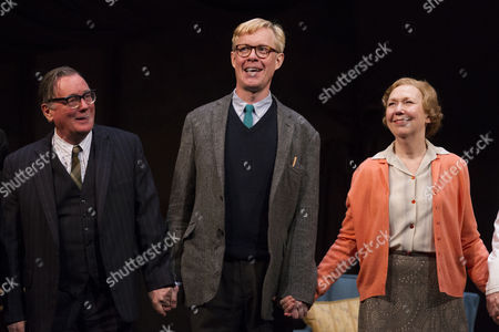 Jeff Rawle (Dad), Alex Jennings (Alan Bennett) and Gabrielle Lloyd (Mum)