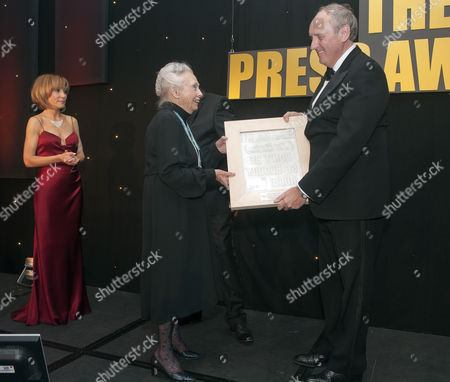 Daily Mail Editor In Chief Paul Dacre Receiving One Of A Several Awards Including 'the Cudlip' Award For The Stephen Lawrence Campaign At The U.k. Press Awards In London. 21/03/12 Reporter Eleanor Harding.