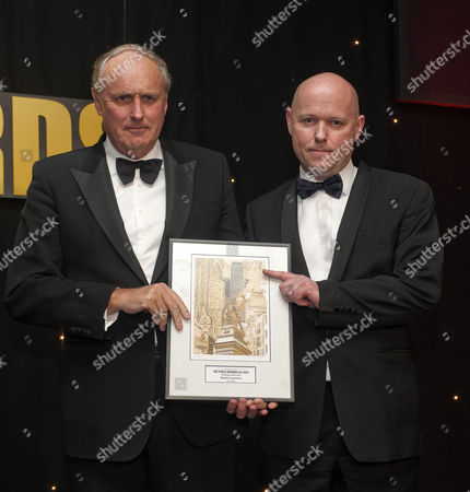 Daily Mail Editor In Chief Paul Dacre With Special Investigations Editor Steve Wright Receiving Campaign Of The Year Award At The British Press Awards Presentations In London. 21/03/12 Reporter Eleanor Harding.