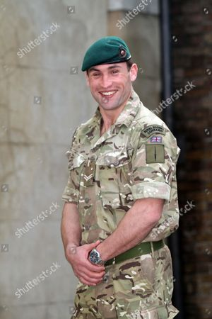Military Operational Awards Admiralty House Whitehall. Corporal Simon Wright-hider Royal Marines Conspicuous Gallantry Cross. (embargoed Until 0001 23.03.12).
