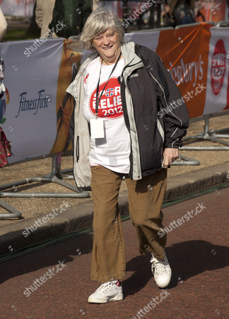 The Sport Relief Mile Taking Place In Around Buckingham Palace In London. Anne Widdecombe. 25/03/12.