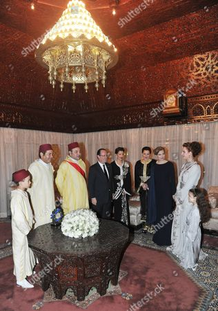 Editorial picture of French President Francois Hollande state visit to Morocco - 03 Apr 2013