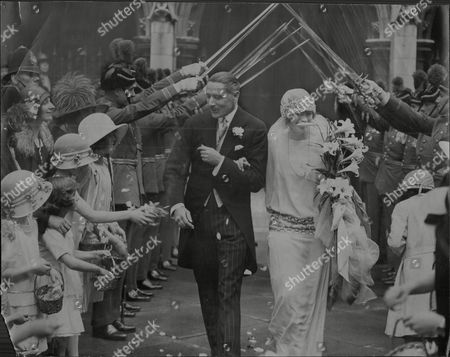 Wedding Of Hon. Monica Grenfell (lady Monica Salmond) And Air Marshall Sir John Salmond At St Margaret's Church Westminster Marshal Of The Royal Air Force Sir John Maitland Salmond Gcb Cmg Cvo Dso And Bar (17 July 1881 Oo 16 April 1968) Was A British Military Officer Who Rose To High Rank In The Royal Flying Corps And Then The Royal Air Force. During The First World War He Served A Squadron Commander As A Wing Commander And Then As General Officer Commanding The Raf On The Western Front Towards The End Of The War. He Went On To Be Air Officer Commanding British Forces In Iraq In The Early 1920s When He Halted A Turkish Invasion And Sought To Put Down A Kurdish Uprising Against King Faisal The British-sponsored Ruler Of Iraq. He Was Chief Of The Air Staff In The Early 1930s And Bitterly Opposed The Position Taken By British Politicians At The World Disarmament Conference In Geneva Which Would Have Led To The Uk's Complete Aerial Disarmament. In The Event The Talks Broke Down When Hitler Withdrew From The Conference In October 1933.