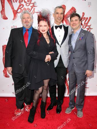 Harvey Fierstein, Cyndi Lauper, Jerry Mitchell, Stephen Oremus