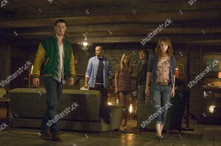 THE CABIN IN THE WOODS (2011),  Chris Hemsworth,   Jesse Williams,   Anna Hutchison,   Fran Kranz,   Kristen Connolly
