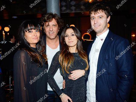 Plaxy Locatelli, Giorgio Locatelli and their children Jack and Margherita