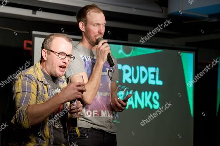 Stock Image of Brendon Burns and Benny Boot