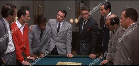 Ocean's Eleven (1960) Joey Bishop, Sammy Davis Jr, Frank Sinatra, Peter Lawford, Henry Silva