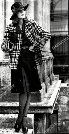 Fashion Women 1973 Model Lindi Collett Wearing Daniel Hechter Fashions.