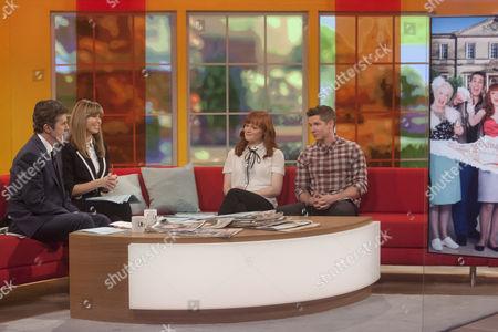 Presenters John Stapleton and Kate Garraway with Natalie Gavin and Karl Davies