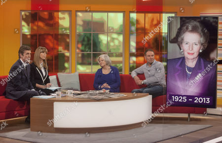John Stapleton and Kate Garraway with Ann Widdecombe and Derek Hatton