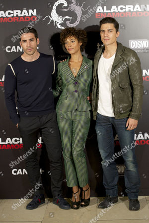 Stock Image of Miguel Angel Silvestre, Judith Diakhate and Alex Gonzalez