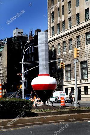 Alexandre Arrechea 'No Limits' sculpture installation on Park Avenue, Manhattan, New York, America - Metlife building