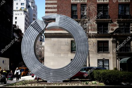 Alexandre Arrechea 'No Limits' sculpture installation on Park Avenue, Manhattan, New York, America - Helmsley Building