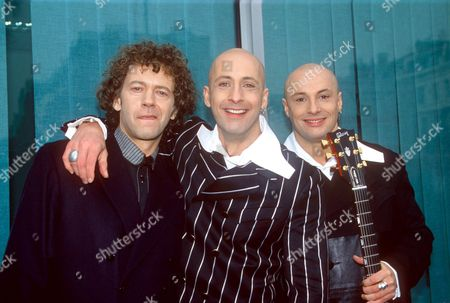 RIGHT SAID FRED- ROB MANZOLI WITH RICHARD AND FRED FAIRBRASS