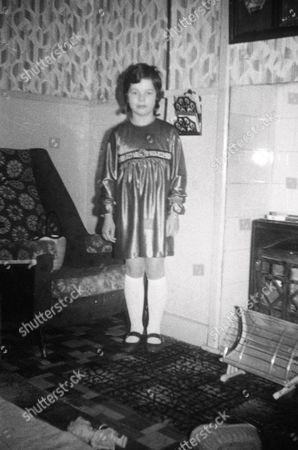 Daughter Anne Marie West as a child