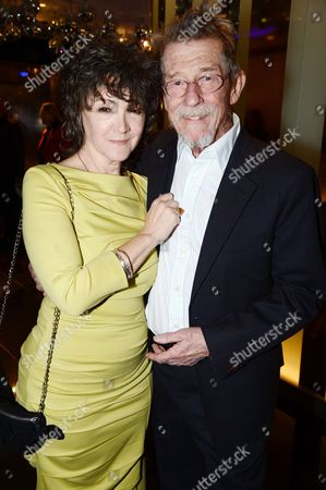 John Hurt and wife Anwen Rees Meyers