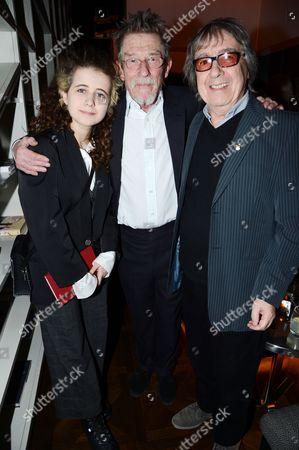 Matilda Wyman, John Hurt and Bill Wyman