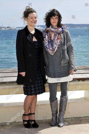 Stock Image of Anne Girouard and Helene Seuzaret