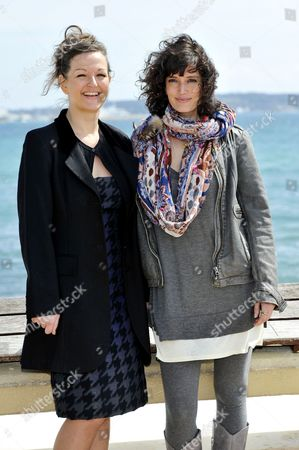 Stock Photo of Anne Girouard and Helene Seuzaret