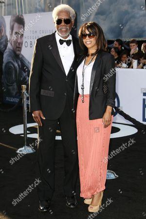 Morgan Freeman & daughter Morgana Freeman
