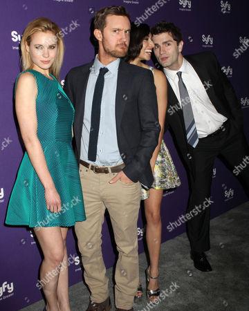 Kristen Hager, Sam Huntington, Meaghan Rath and Sam Witwer