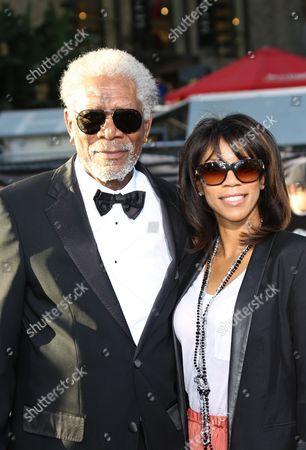Stock Image of Morgan Freeman and Daughter Morgana Freeman