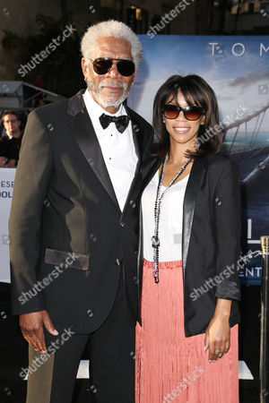 Stock Picture of Morgan Freeman and Daughter Morgana Freeman