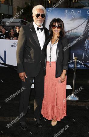 Stock Photo of Morgan Freeman and Daughter Morgana Freeman