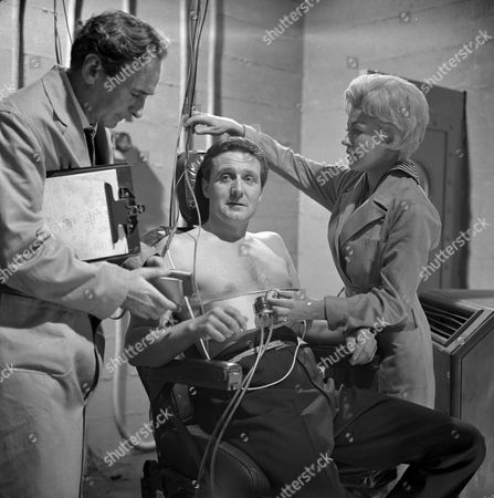 Stock Photo of Ronald Leigh Hunt, Patrick Macnee and Sylva Langova