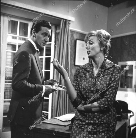 Stock Image of Patrick Macnee and Sheila Robins