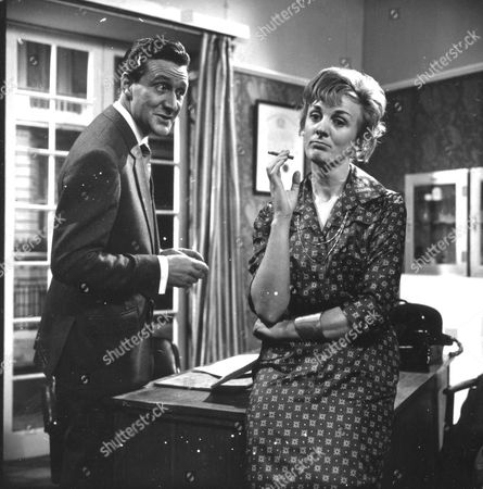 Stock Picture of Patrick Macnee and Sheila Robins