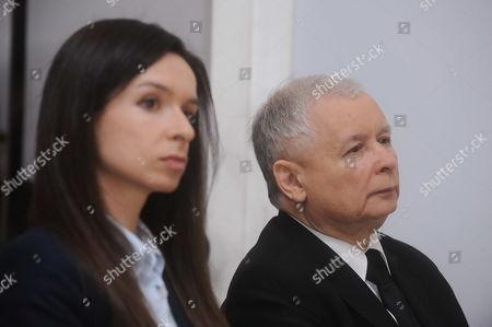 Stock Photo of Marta Kaczynska-Dubieniecka and Jaroslaw Kaczynski