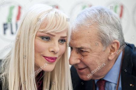 Ilona Staller and party chairman Enzo Palumbo