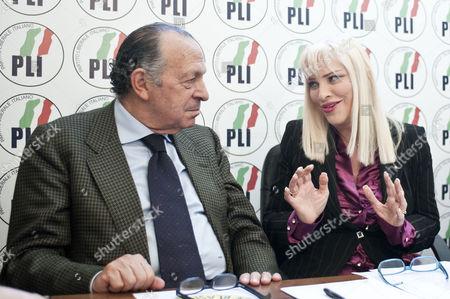Party secretary Stefano De Luca, Ilona Staller