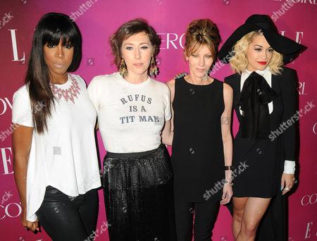 Stock Image of Kelly Rowland, Martha Wainwright, Roberta Myers and Rita Ora