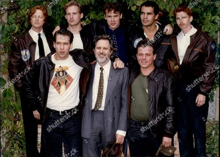 Film Producer Lord David Puttnam (front Centre) With Cast Of His Film Memphis Belle Eric Stoltz Reed Edward Diamond Tate Donovan Billy Zane Courtney Gains D.b. Sweeney And Neil Giuntoli David Terence Puttnam Baron Puttnam Cbe Frsa (born 25 February 1941) Is A British Film Producer And Educator. He Sits On The Labour Benches In The House Of Lords Although He Is Not Principally A Politician.