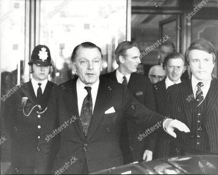 Francis Pym The Conservative Party Politician Arrives And Leaves The Churchill Hotel.