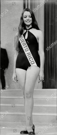 Editorial photo of Raquel Quintana Beauty Queen Miss Puerto Rico In Miss World Contest 1971.