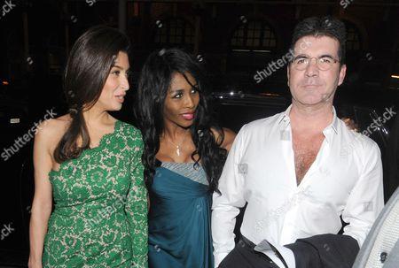 Stock Picture of Mezhgan Hussainy, Sinitta and Simon Cowell