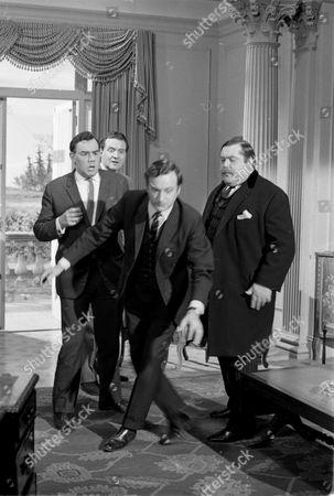 Stock Photo of Geoffrey Sumner, Patrick Macnee, Paul Eddington and Patrick Newell