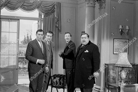 Geoffrey Sumner, Patrick Macnee, Paul Eddington and Patrick Newell