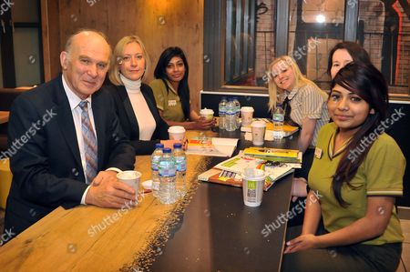 Stock Picture of Vince Cable and Jill McDonald CEO of McDonald's UK