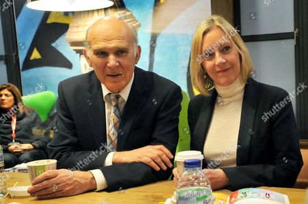 Editorial picture of Vince Cable visits McDonald's Camden High Street, London, Britain - 22 Jan 2013