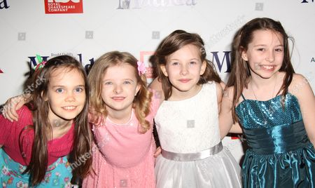 Cast of Matilda - Oona Laurence, Milly Shapiro, Sophia Gennusa, Bailey Ryon