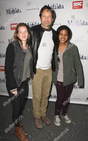 Madelaine West Duchovny and David Duchovny and friend