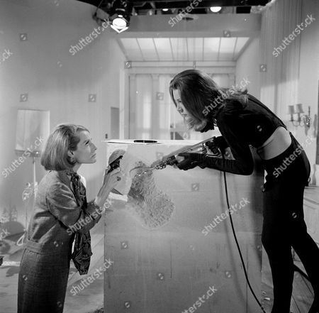 Stock Photo of Annette Carell and Diana Rigg