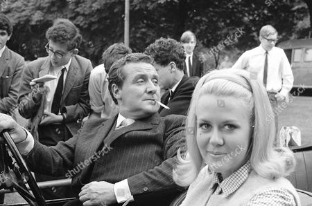 Patrick Macnee and Valerie Van Ost