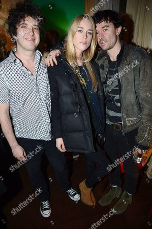 Harper Simon, Mary Charteris and Robbie Furze